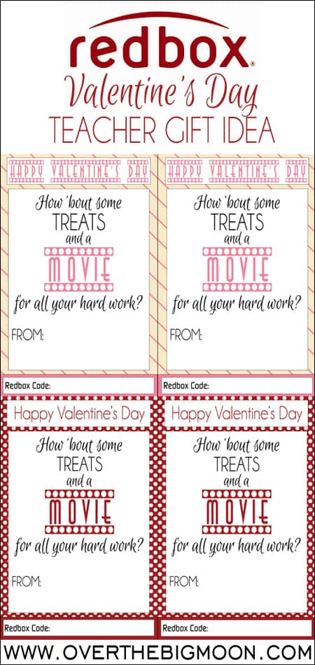 photograph about Redbox Teacher Appreciation Printable called Redbox Valentines Working day Trainer Present Around The Substantial Moon