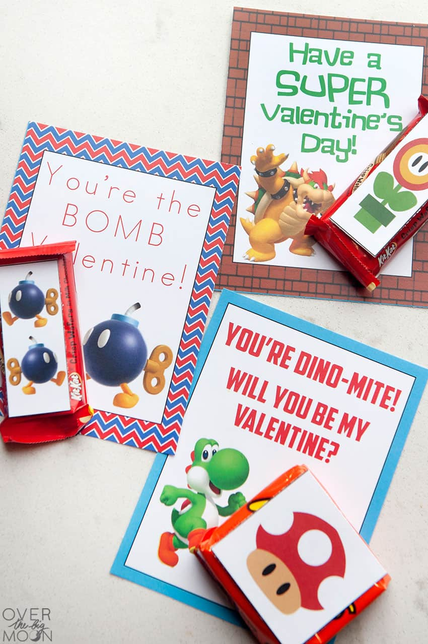 super mario printable valentines