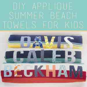 DIY Applique Name Beach Towels
