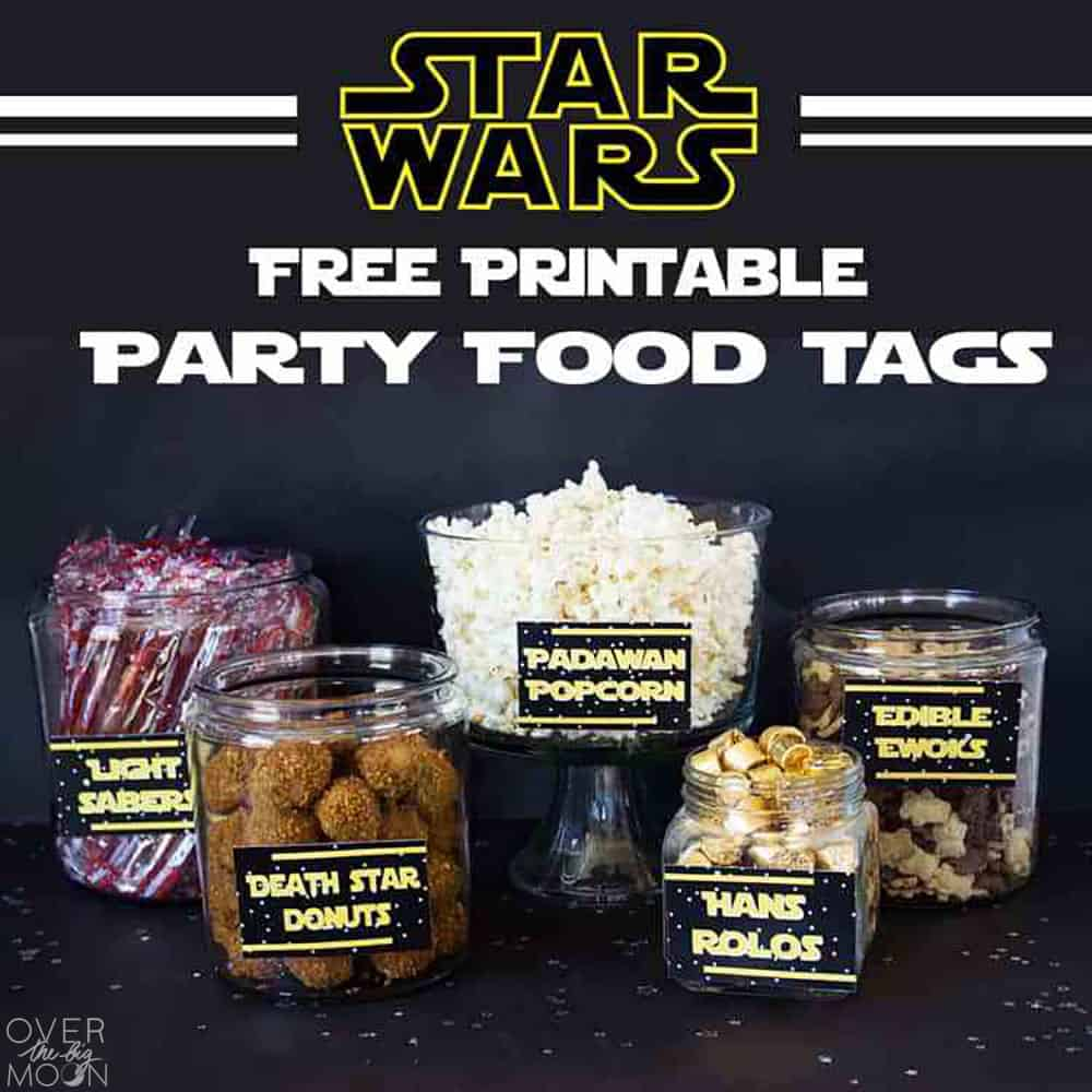 photograph relating to Free Printable Food Labels for Party identify May perhaps the 4th Be with Yourself - Star Wars Food items Totally free Printables