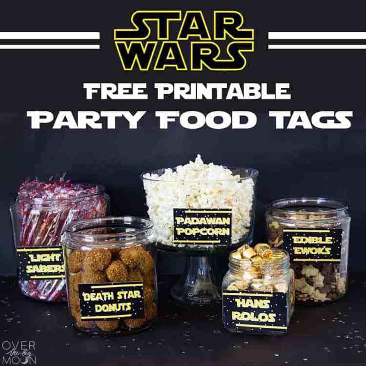 Star Wars Food Free Printables