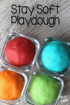 Stay Soft Playdough that your kids will love this! Stays good for months and smells so yummy! From www.overthebigmoon.com!