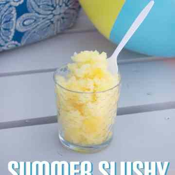 Summer Slush - This is seriously so tasty! The perfect treat to cool you down! From www.overthebigmoon.com!