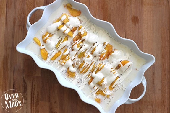 Traditional Peaches & Cream w/ Mascarpone Sauce | Over the Big Moon