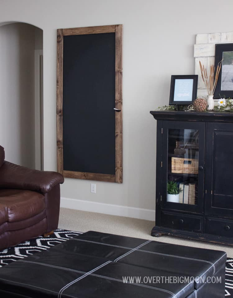 DIY Chalkboard for home organization! This step-by-step tutorial will help you build a HUGE chalkboard for affordable!