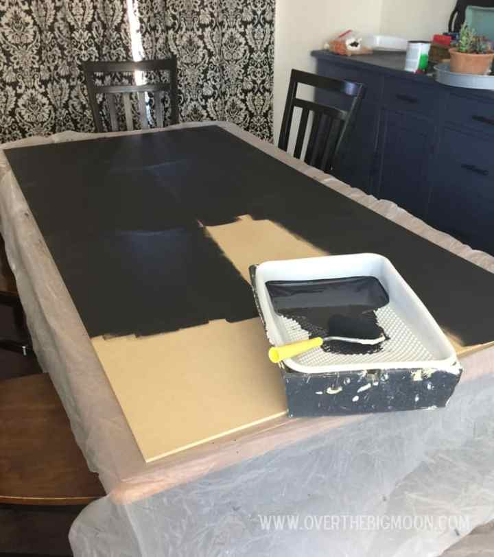 How to Build a Huge Chalkboard - from overthebigmoon.com!