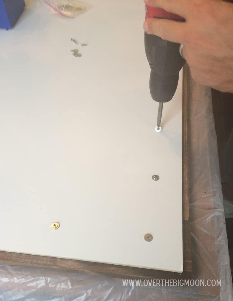 DIY Chalkboard - step by step tutorial from overthebigmoon.com!