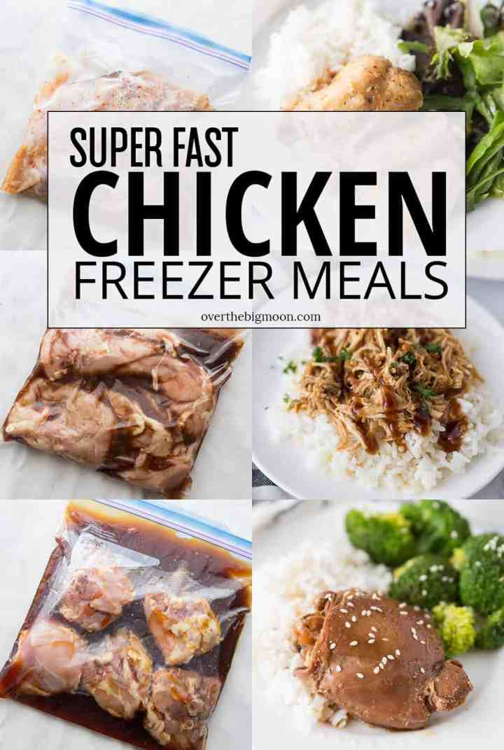 These Crockpot Chicken Freezer Meals are all super family favorite and a breeze to put together! From overthebigmoon.com!