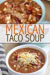 Easy Mexican Taco Soup - this is the best Fall and Winter dinner! You can make it on the stove or in a crockpot and it freezes great too! From overthebigmoon.com!
