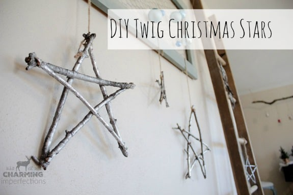 This Winter Twig Star Decoration is the perfectly simple and frugal for the modern rustic farmhouse home!