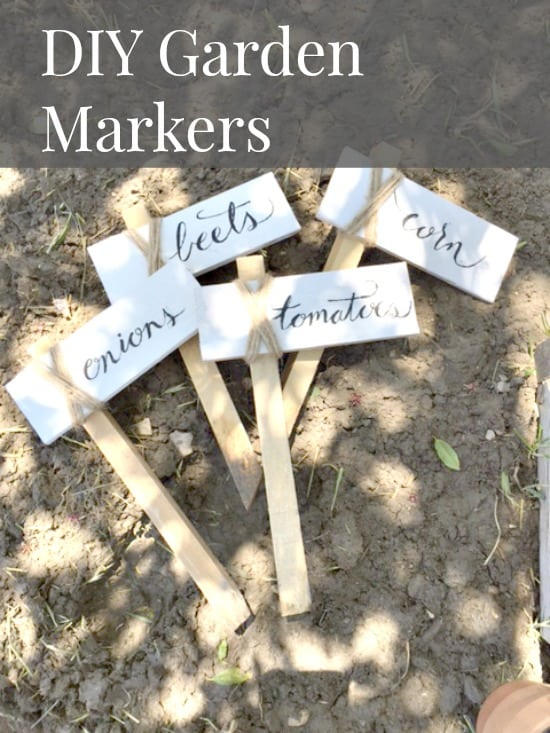 These DIY garden markers are so easy to make!