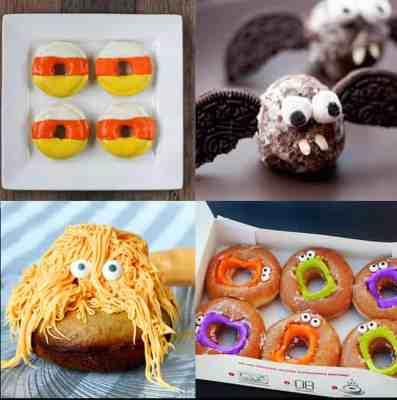 Halloween Donut Treat Ideas - such fun ideas! My kids would love these! | www.overthebigmoon.com