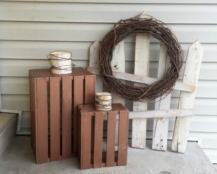 DIY Wooden Crate Pumpkins
