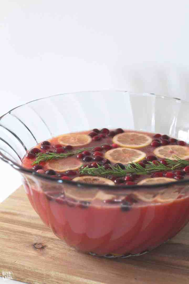 No need to search anymore - this right here is the Perfect Christmas Party Punch! The flavors of this scream Christmas! Also, this can be made family friendly or adult only with just one ingredient change! Full recipe at www.overthebigmoon.com!