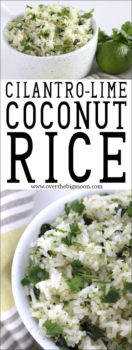 Cilantro-Lime Coconut Rice from www.overthebigmoon.com