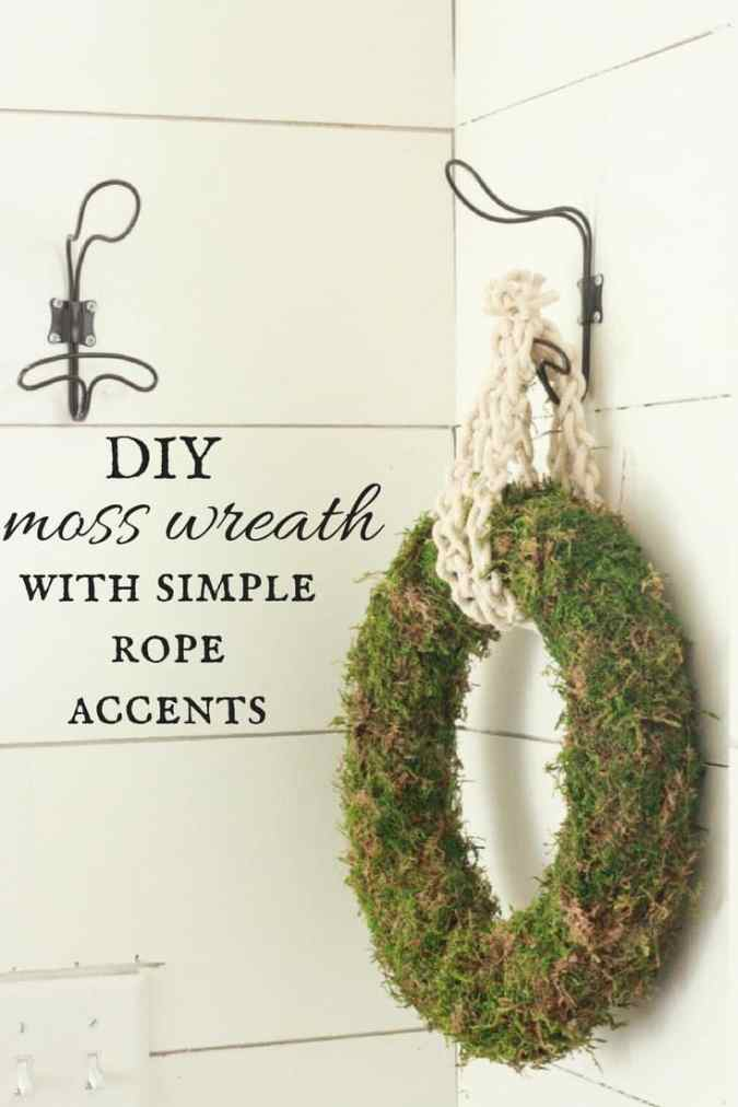 Its time to make this DIY moss wreath. It is the perfect accent for any time of the year and they are so easy to make. Try this simple project out!
