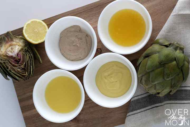Artichokes are one of my favorite sides and snacks. Since we've been cooking them in our Instant Pot we have them even more often! And these are our 4 favorite dips to have with them!   www.overthebigmoon.com