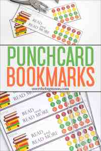 These Printable Punchcard Bookmarks are the perfect way to help your kids track their reading and help motivate them to learn to love to read!