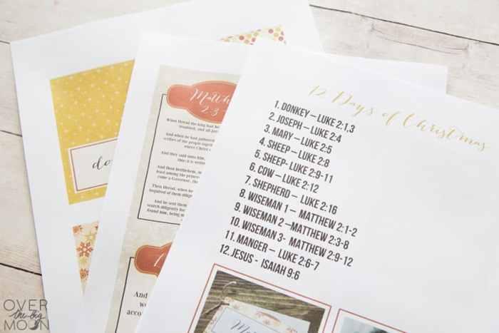 12 Days of Christmas Nativity Countdown Printables - Over ...