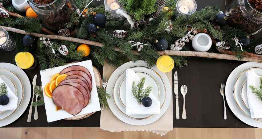 Christmas Breakfast Table with ideas for your Christmas Breakfast! From www.overthebigmoon.com!