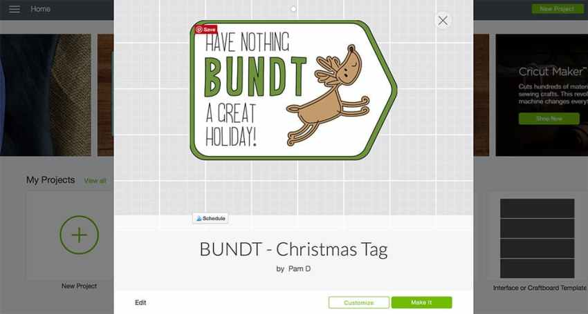 Gift Tag from Cricut Design Space - www.overthebigmoon.com