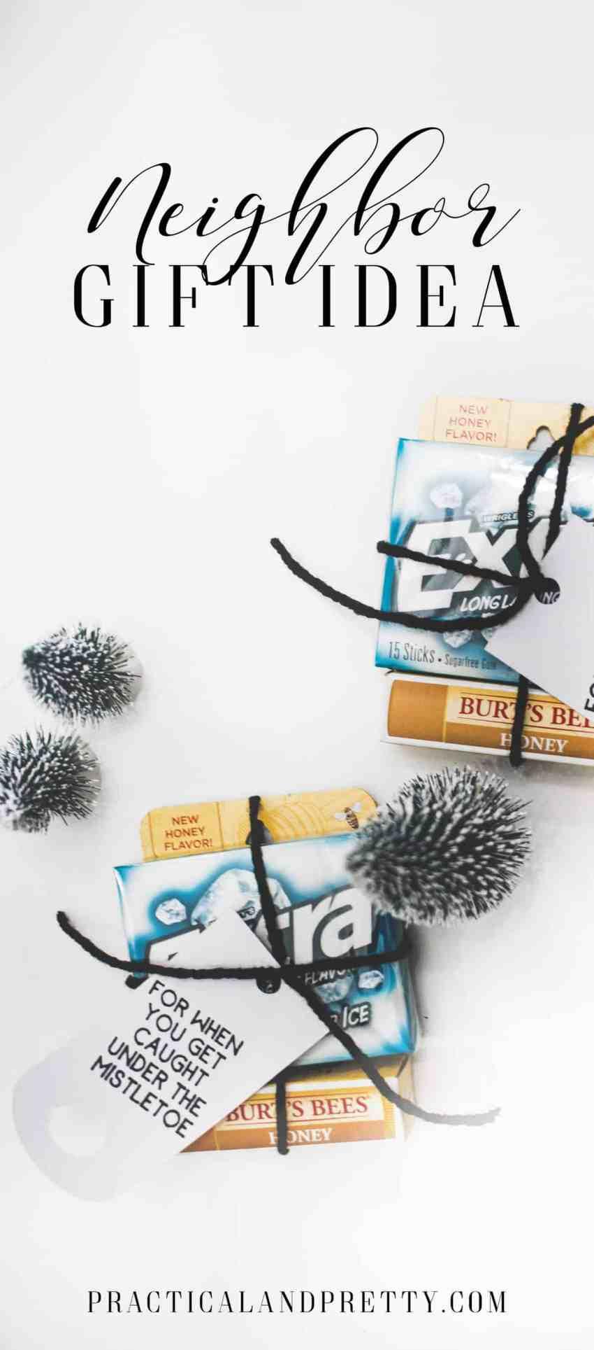 Mistletoe Neighbor Gift Idea - for when you get caught under the mistletoe! | www.overthebigmoon.com