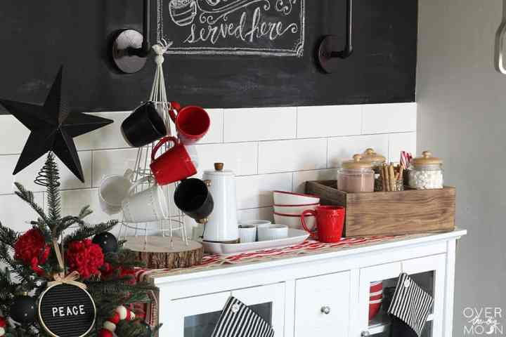 Simple Hot Cocoa Bar that is perfect for the winter months! From www.overthebigmoon.com!