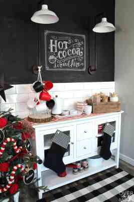 Hot Cocoa Bar - perfect for a cold winter party! From www.overthebigmoon.com