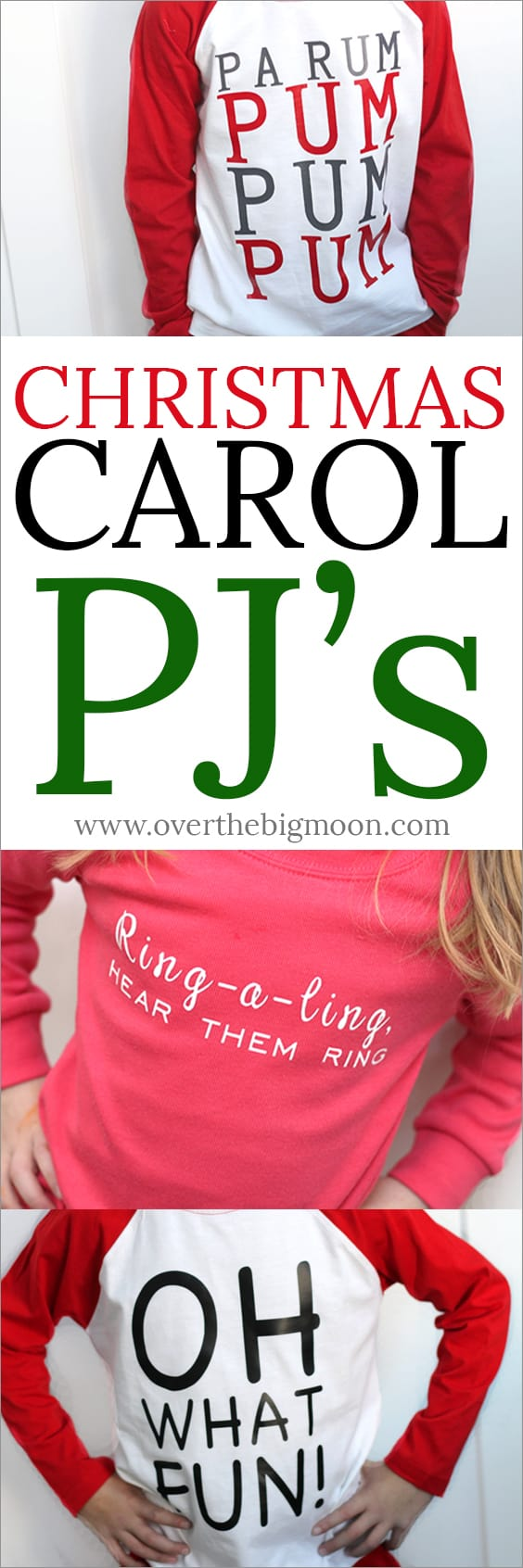 Christmas Carol PJ's - made with my Cricut Maker! Click over to get the Design Space files! From overthebigmoon.com!