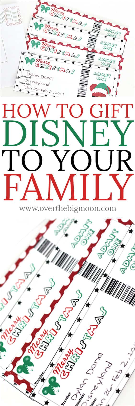 picture relating to Disney World Printable Tickets identified as How towards Present Disney toward Your Household with Printable Tickets