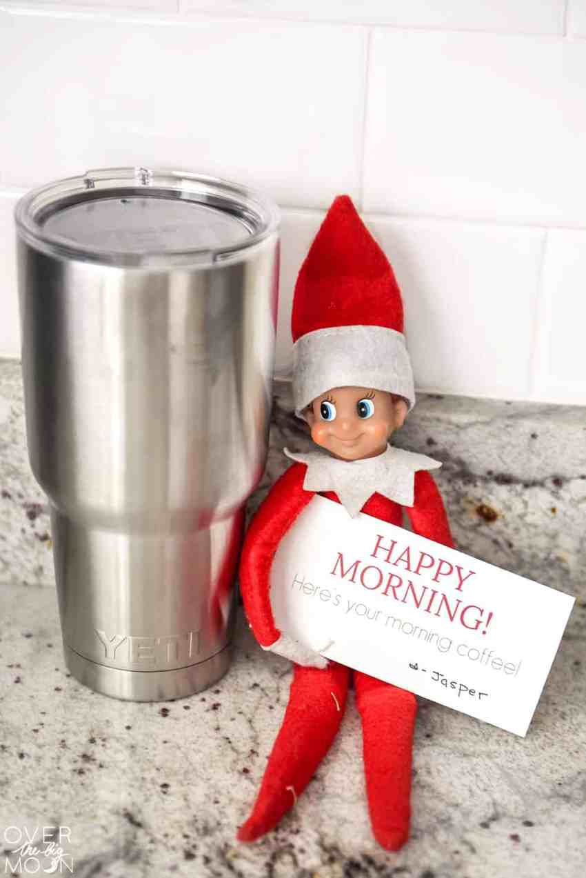 Jasper the Elf is being so helpful this holiday season! Come check out his service and get some printable Elf Cards! From overthebigmoon.com!