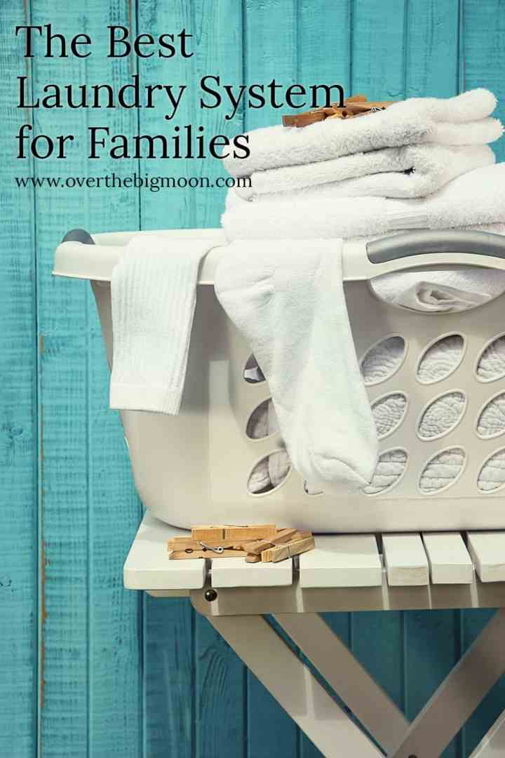 The Best Laundry System for Families - from overthebigmoon.com! #laundry #chores