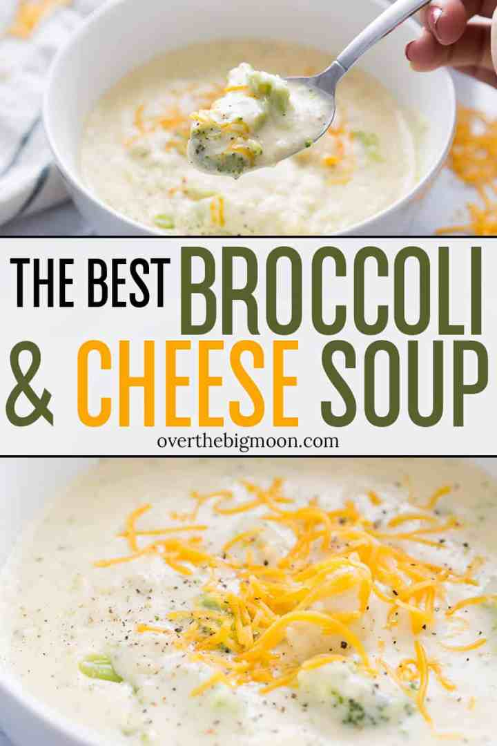 I know that is a big claim, BUT this really is the BEST Broccoli Cheese Soup! My kids - even the picky one - loves this soup! It's creamy with chunks of vegetables that help create texture!! If you're a super lover, you've got to try this recipe! From overthebigmoon.com!