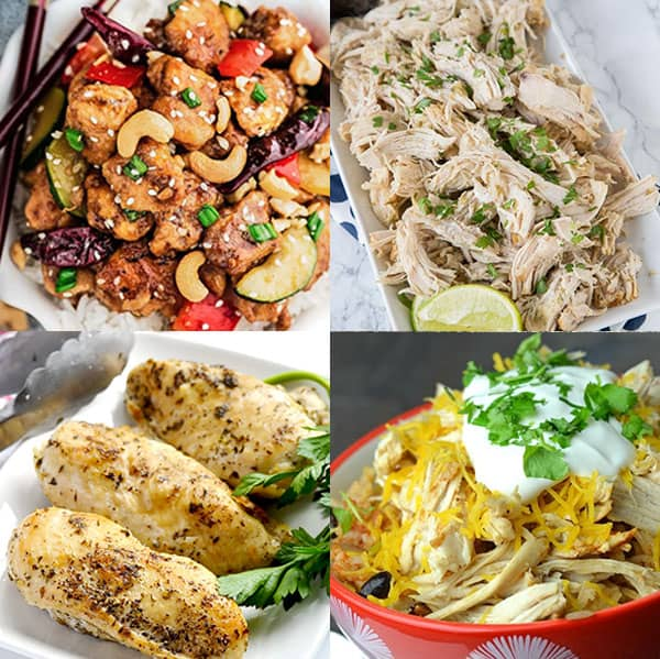 Easy Chicken Instant Pot Recipes - from overthebigmoon.com!
