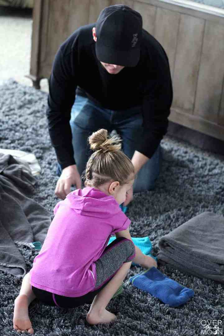 Teach Kids basic chores and to help with the laundry! From overthbigmoon.com! #chores #laundry