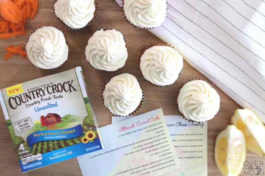 Looking for the prefect Easter treat? You've got to check out this recipe for Carrot Cake or Carrot Cupcakes with Lemon Cream Cheese Frosting! From overthebigmoon.com!