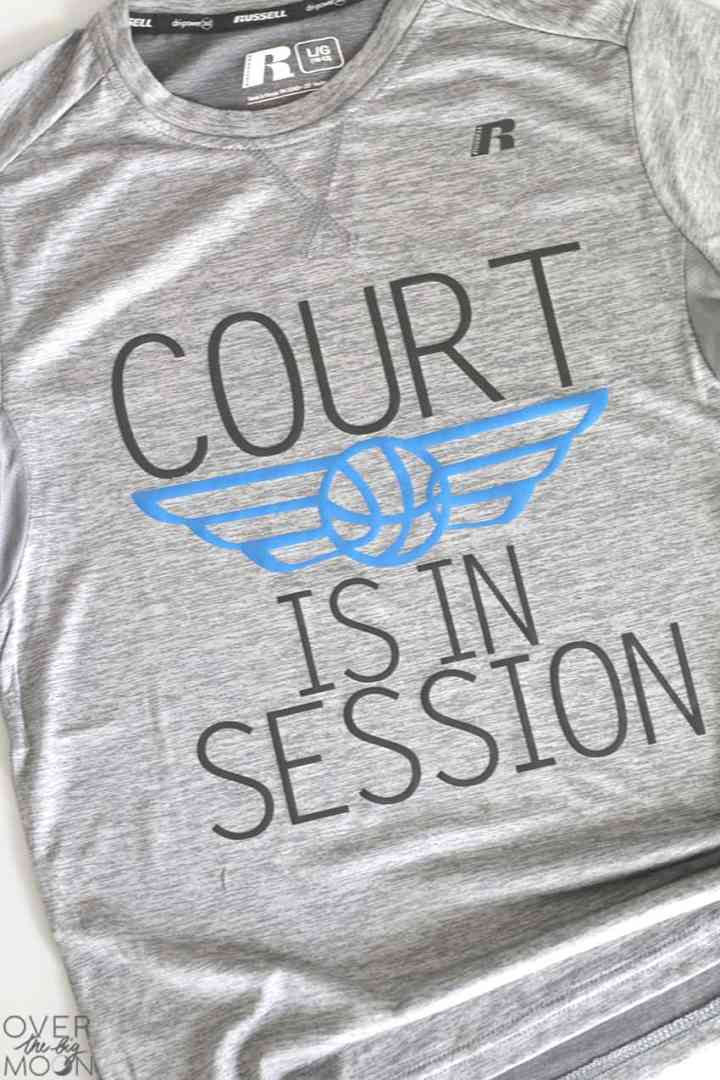 Fun Basketball themed shirts! From overthebigmoon.com!