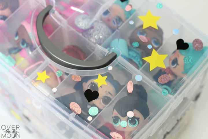 Doll Organization for little dolls - perfect for Hatchimals, LOL Dolls, Shopkins! From overthebigmoon.com!