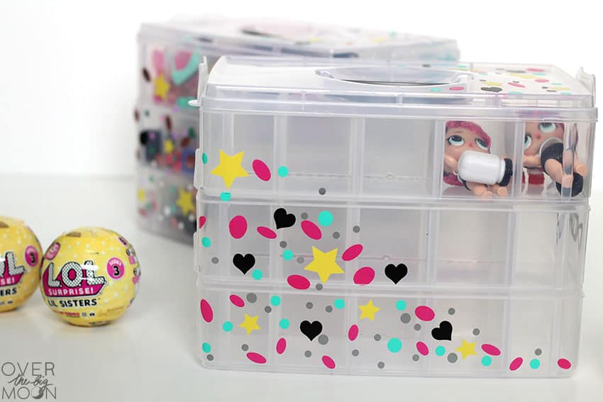 LOL Doll, Hatchimal or Shopkins Organization Bins! From overthebigmoon.com!
