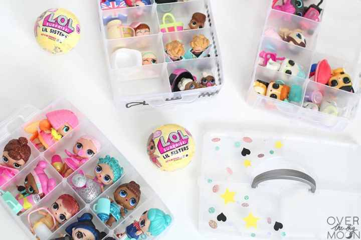 Organization Bin for little dolls! From overthebigmoon.com!