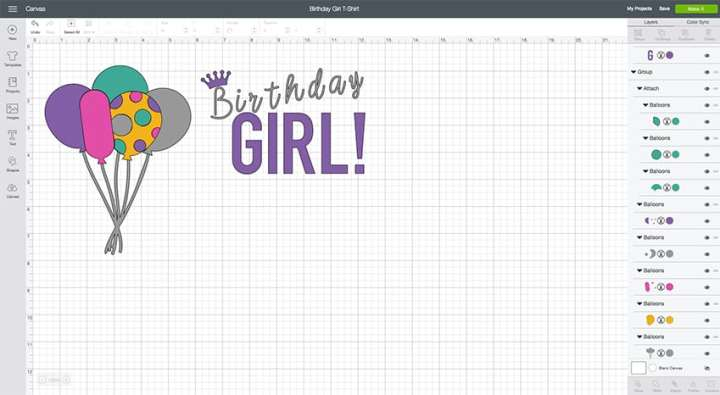 Birthday Girl Design Space File from overthebigmoon.com!