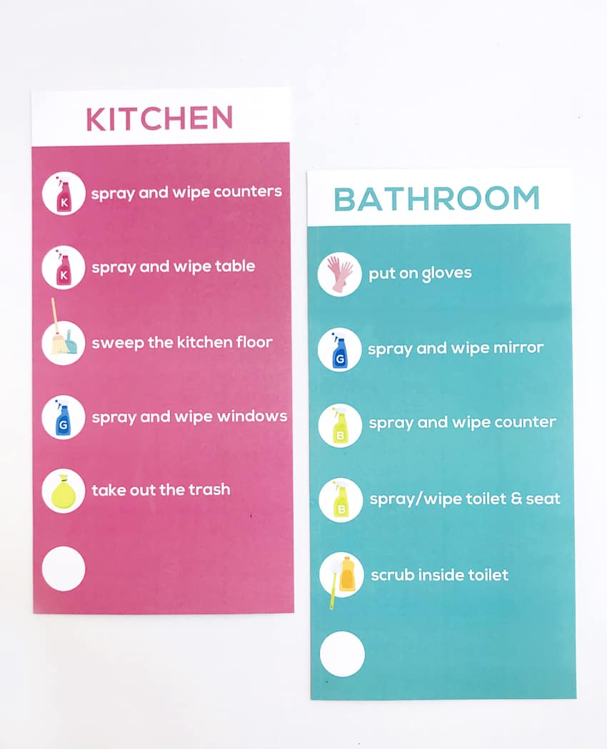 photo about Cleaning Checklist Printables titled Children Cleansing Listing Printables Earlier mentioned The Large Moon