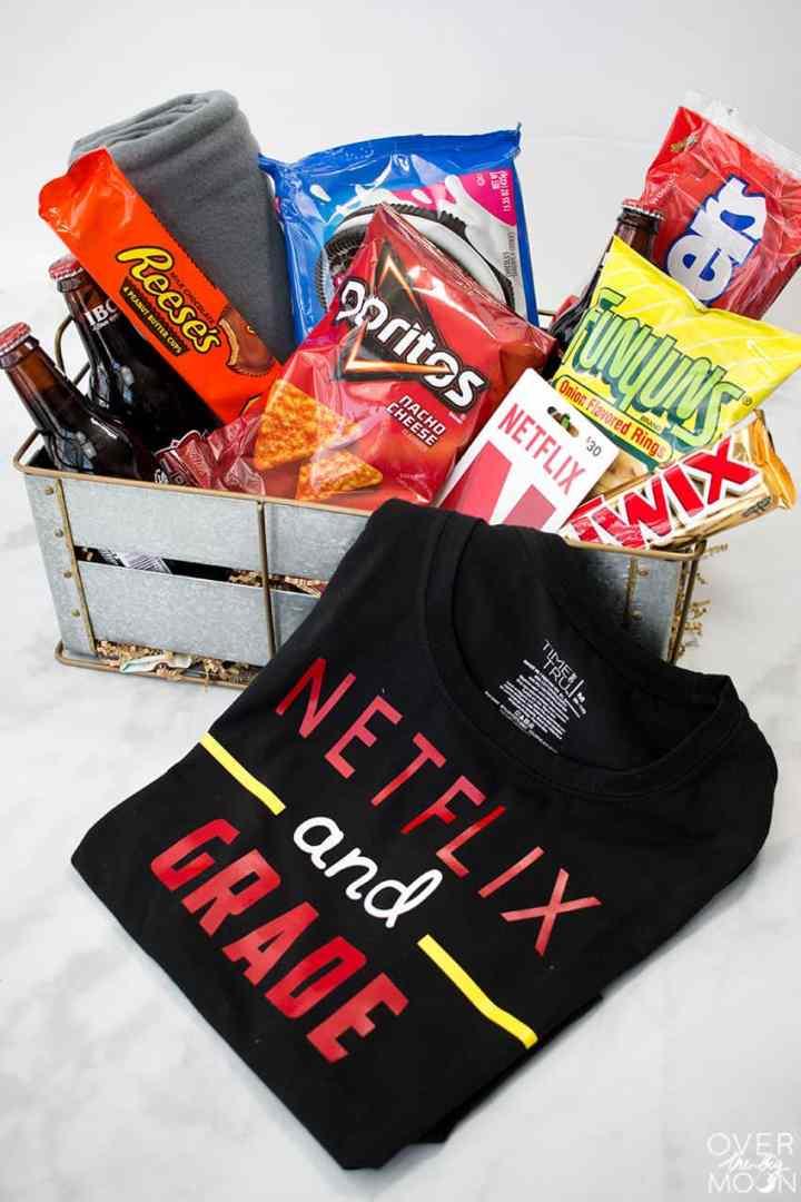 Netflix Teacher Shirt - Netflix and Grade Shirt + Gift Basket Idea! From overthebigmoon.com!