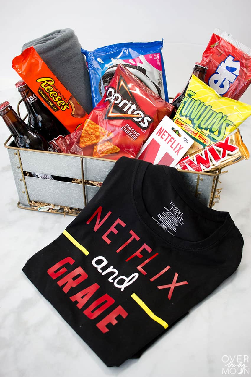 Netflix Teacher Shirt - Netflix and Grade Shirt + Gift Basket Idea! From overthebigmoon.com!