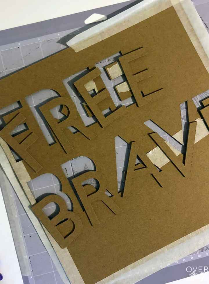 Heavy Chipboard letters for a 4th of July Sign from overthebigmoon.com!