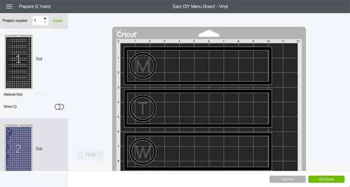 Prepare multiple mats to create the vinyl needed to make your own Menu Board! From overthebigmoon.com!