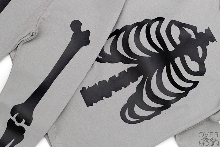 Skeleton Pajamas made with the Cricut Maker or Cricut Explore. From overthebigmoon.com!