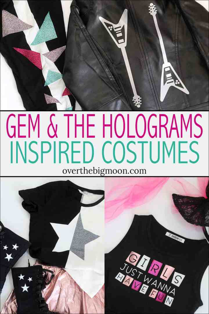 Gem and the Hologram Inspired Costumes for little girls! These are perfect for Halloween or Dress Up! From overthebigmoon.com!