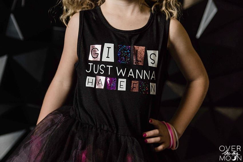 Girls Just Want to Have Fun Dress from overthebigmoon.com!