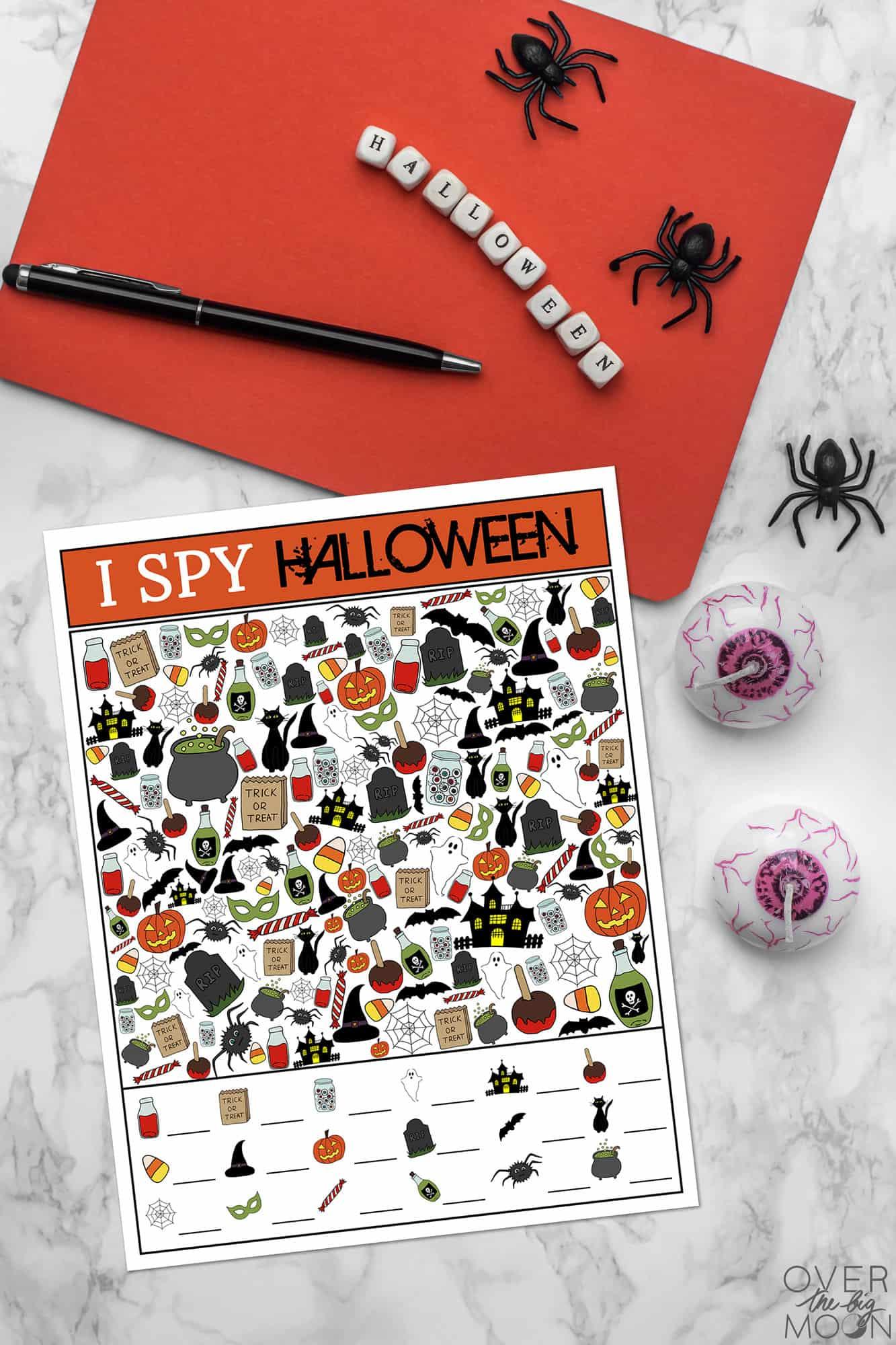 Halloween I Spy Printable Game